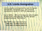 u s limits immigration