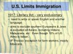 u s limits immigration11