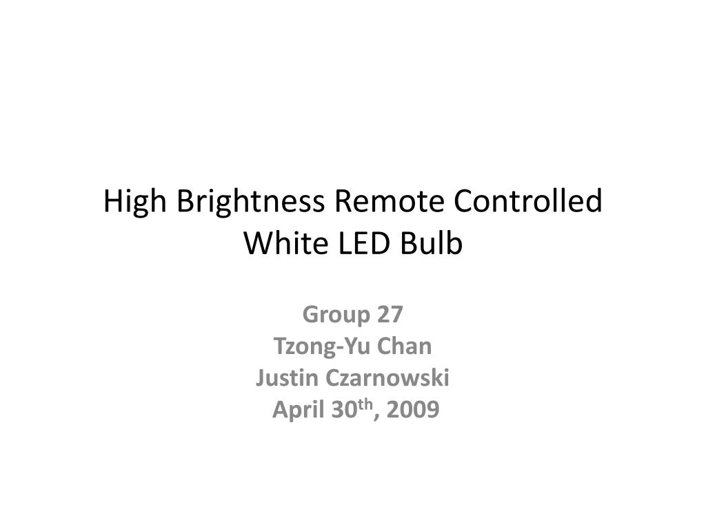 high brightness remote controlled white led bulb l.