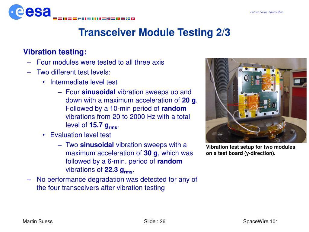 Transceiver Module Testing 2/3