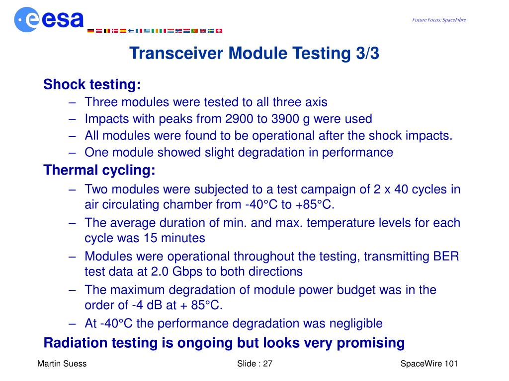 Transceiver Module Testing 3/3