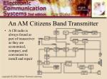 an am citizens band transmitter
