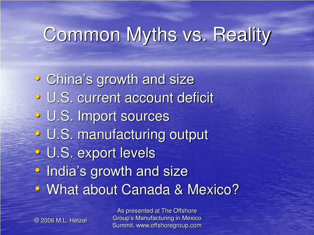 Common Myths vs. Reality