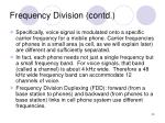 frequency division contd