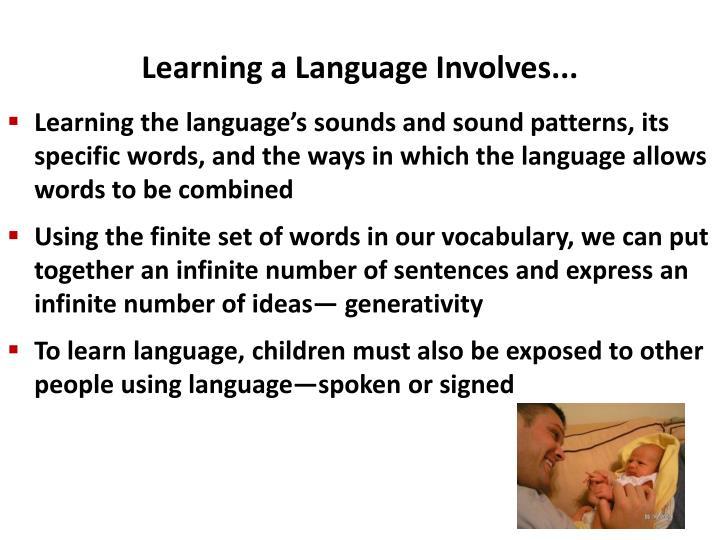 Learning a language involves
