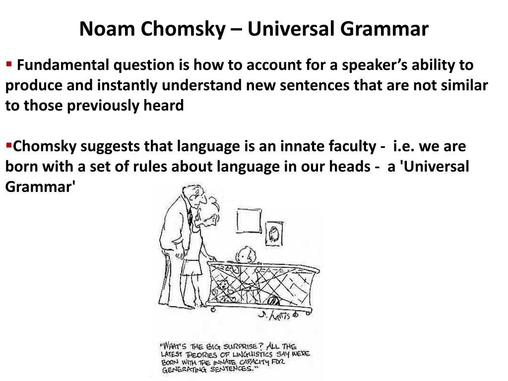 Noam Chomsky – Universal Grammar