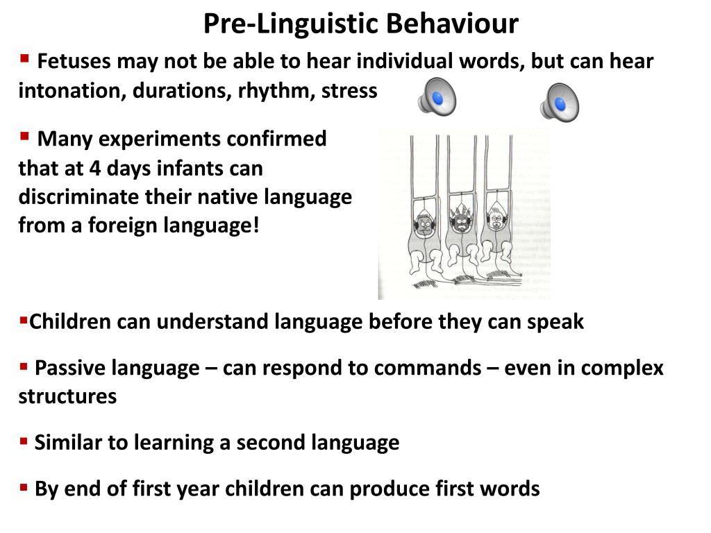 Pre-Linguistic Behaviour