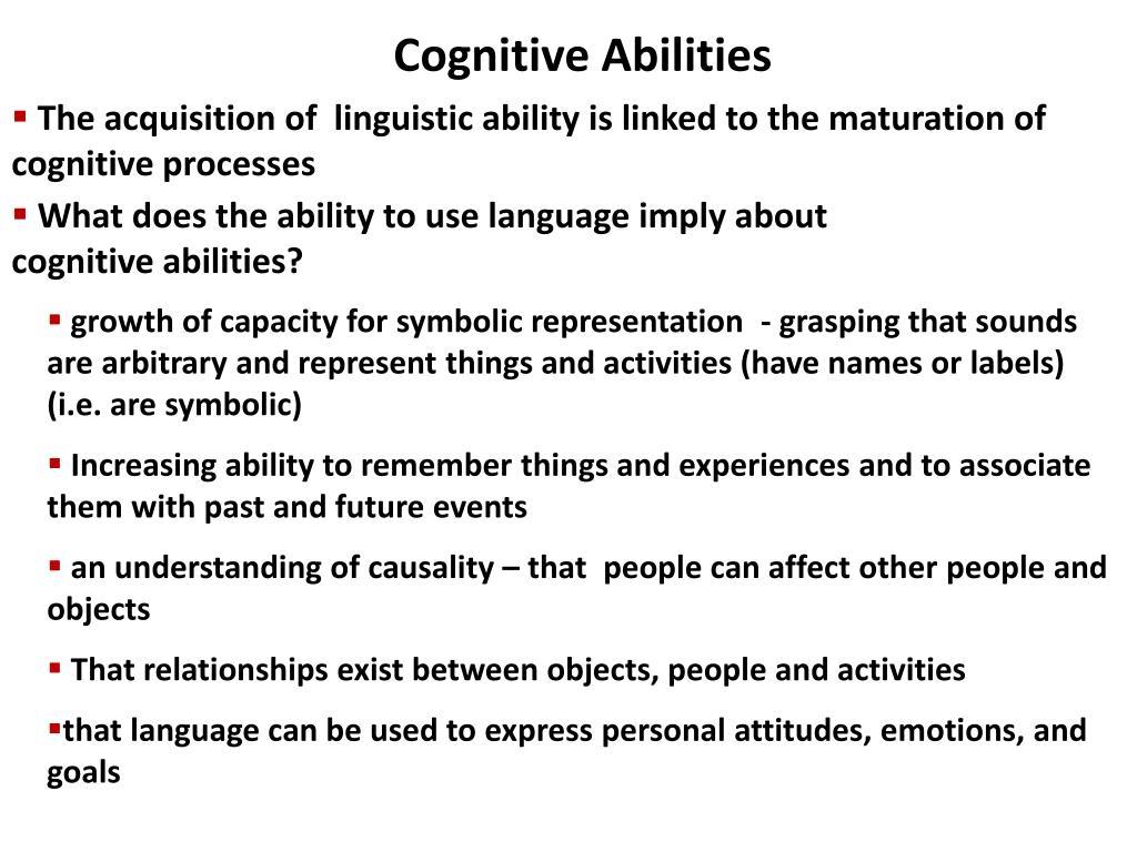 Cognitive Abilities