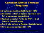 canadian dental therapy programs
