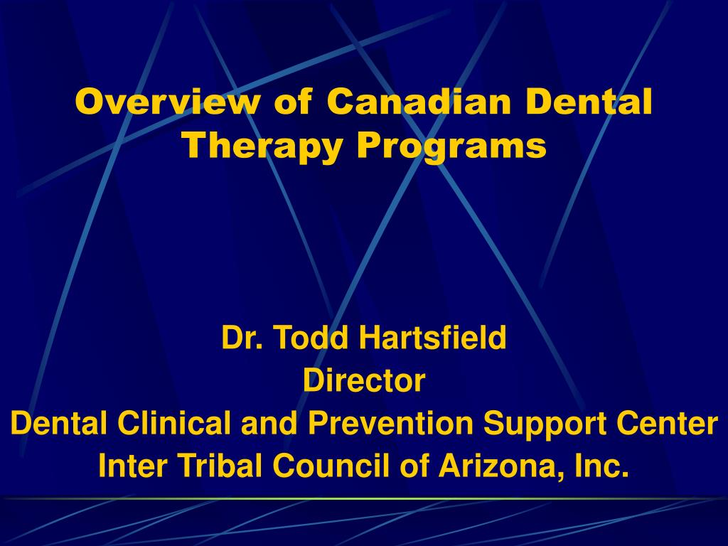 overview of canadian dental therapy programs