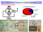 what s next towards sub 100 w transceiver
