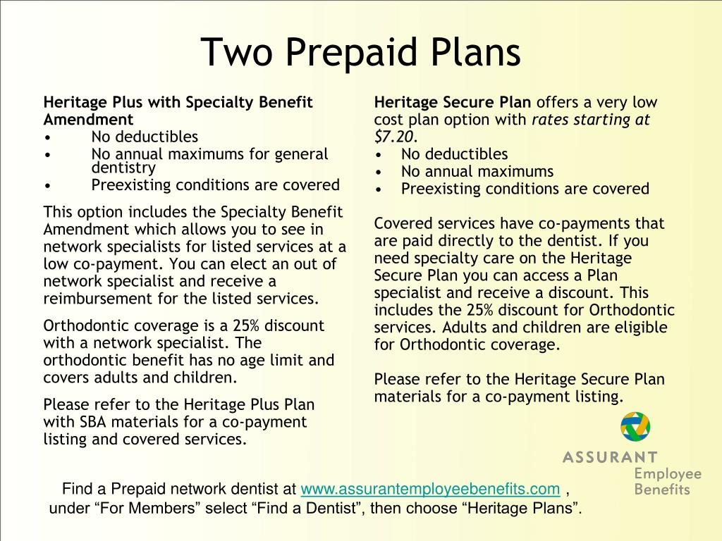 Heritage Plus with Specialty Benefit