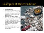 examples of water pollution