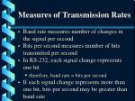 measures of transmission rates