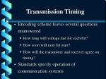 transmission timing