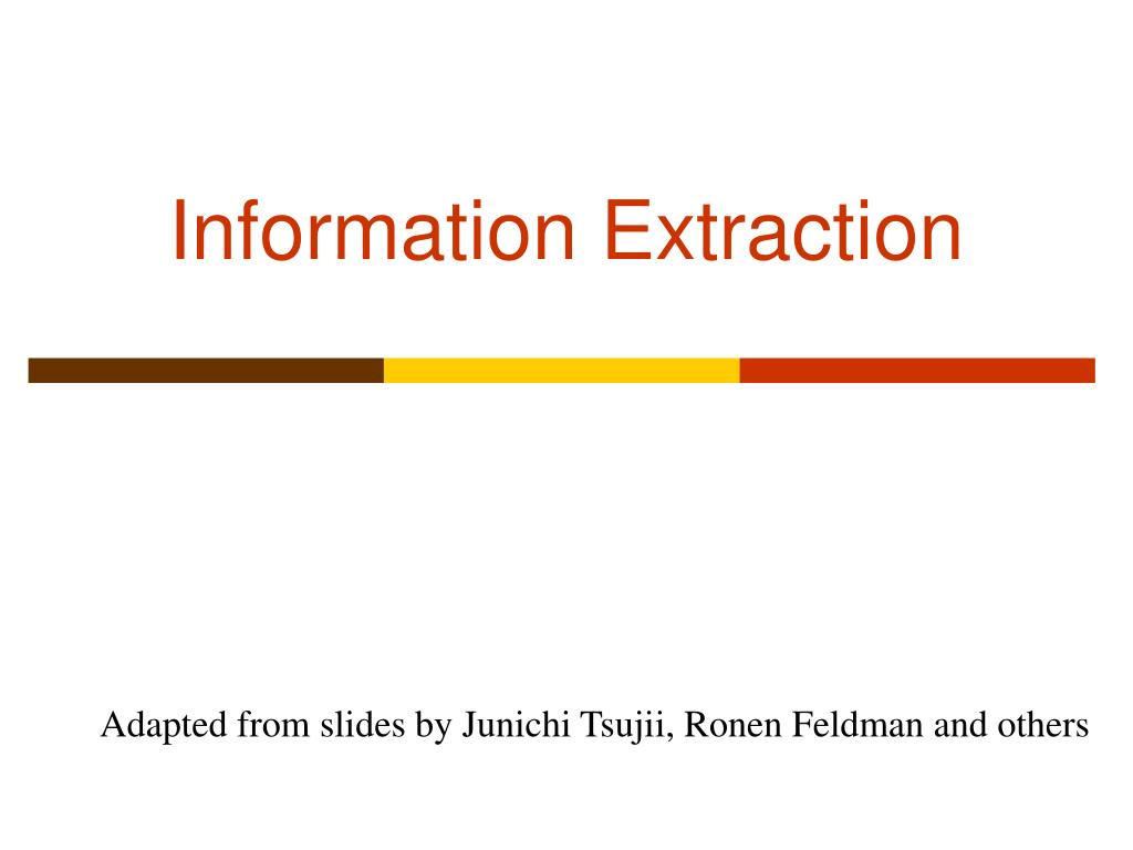 information extraction l.
