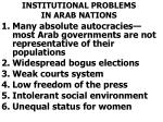 institutional problems in arab nations