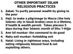 other important islam religious practices