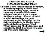 salafism the rise of ultraconservative islam