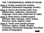 the 7 geographical zones of islam