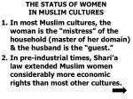 the status of women in muslim cultures