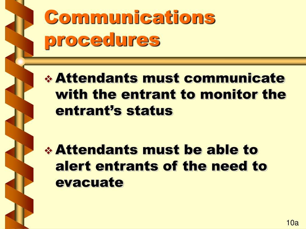 Communications procedures