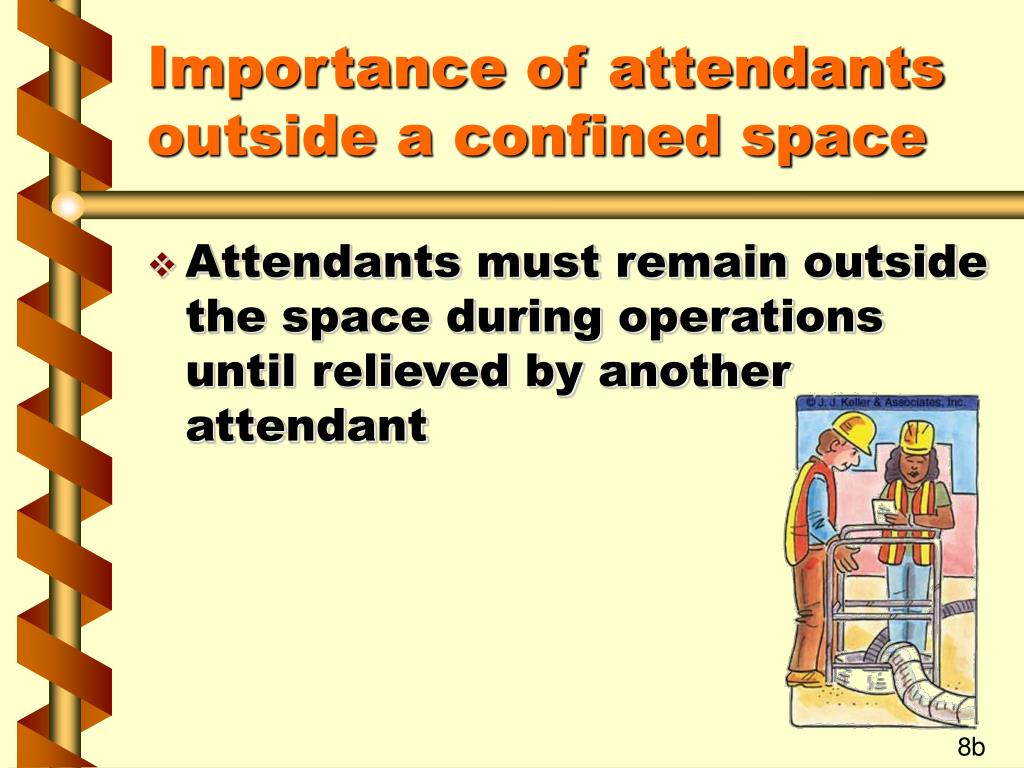 Importance of attendants outside a confined space