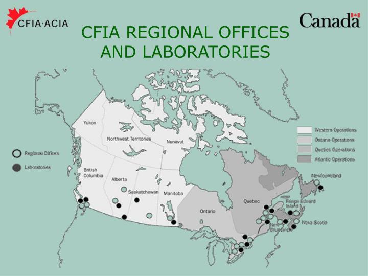 CFIA REGIONAL OFFICES