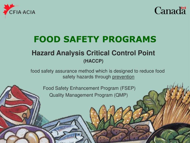 Food Safety Enhancement Program (FSEP)