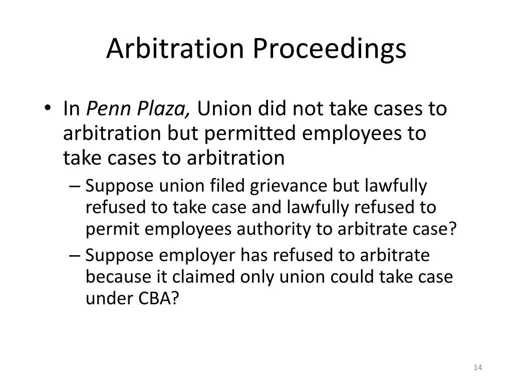 Arbitration Proceedings