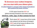 to decrease your carbon footprint