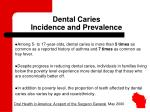 dental caries incidence and prevalence