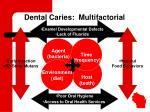 dental caries multifactorial
