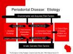 periodontal disease etiology
