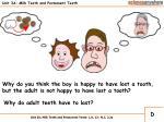 unit 3a milk teeth and permanent teeth