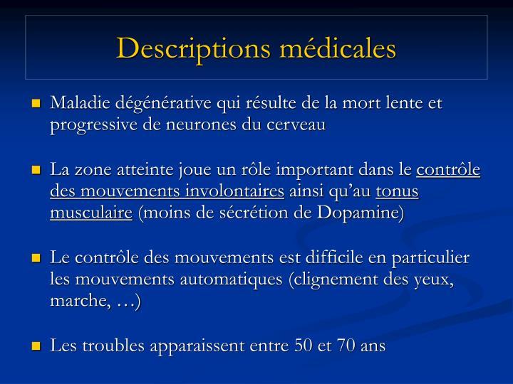 Descriptions m dicales