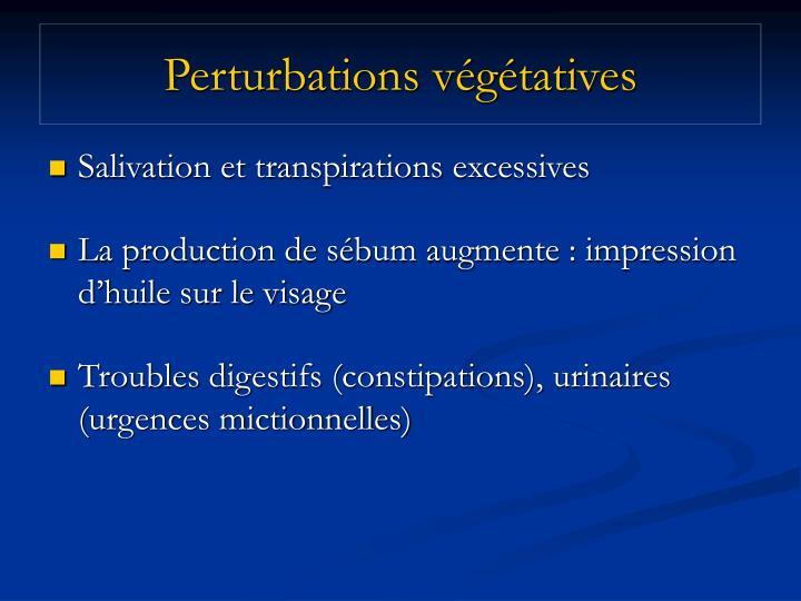 Perturbations végétatives