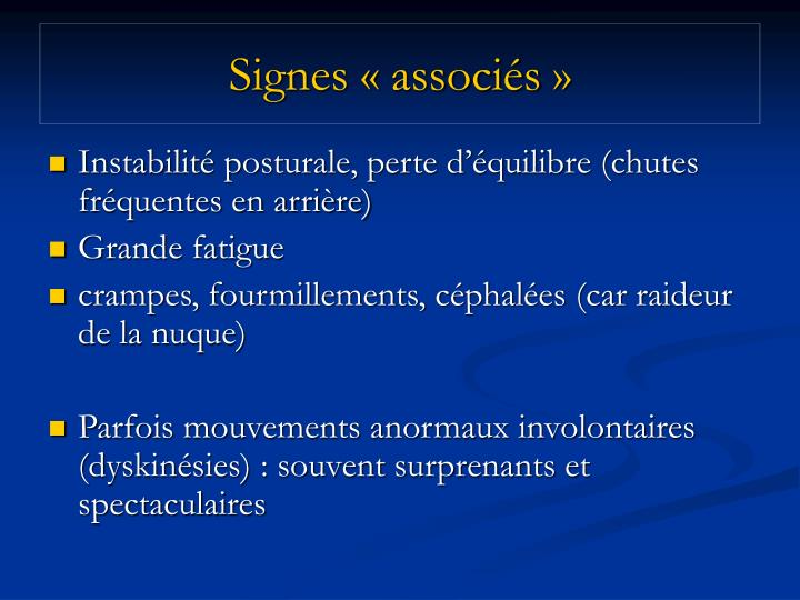 Signes «associés»