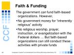 faith funding
