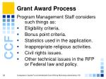 grant award process33