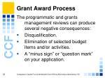 grant award process35