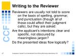 writing to the reviewer27