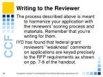 writing to the reviewer29