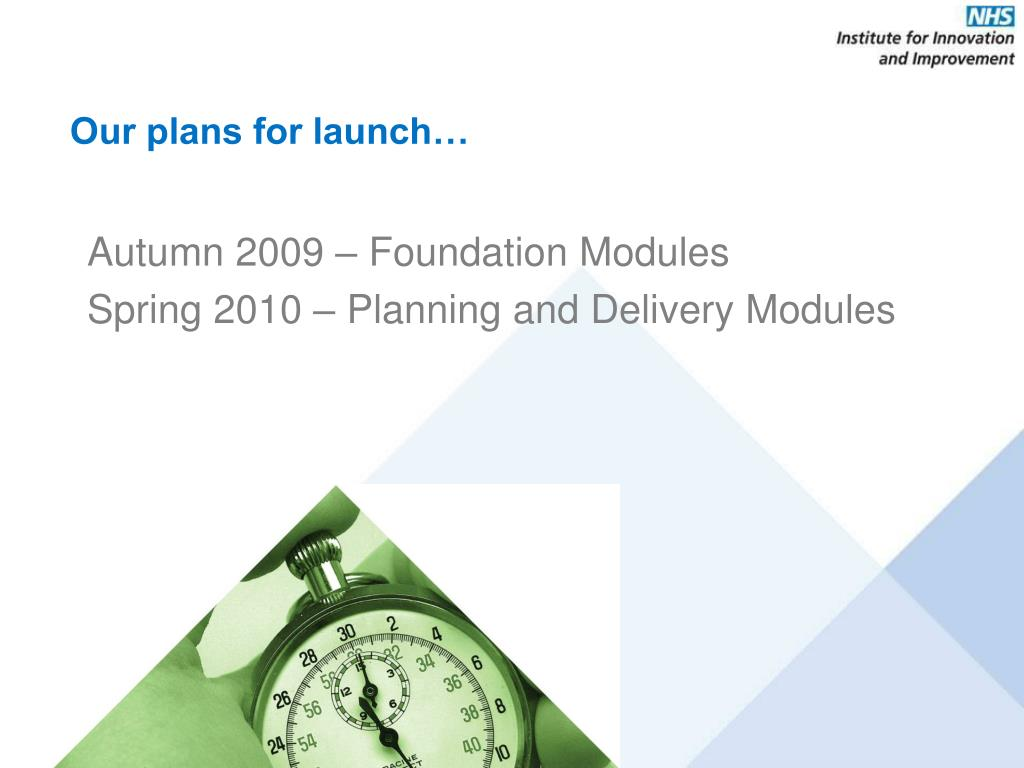 Our plans for launch…