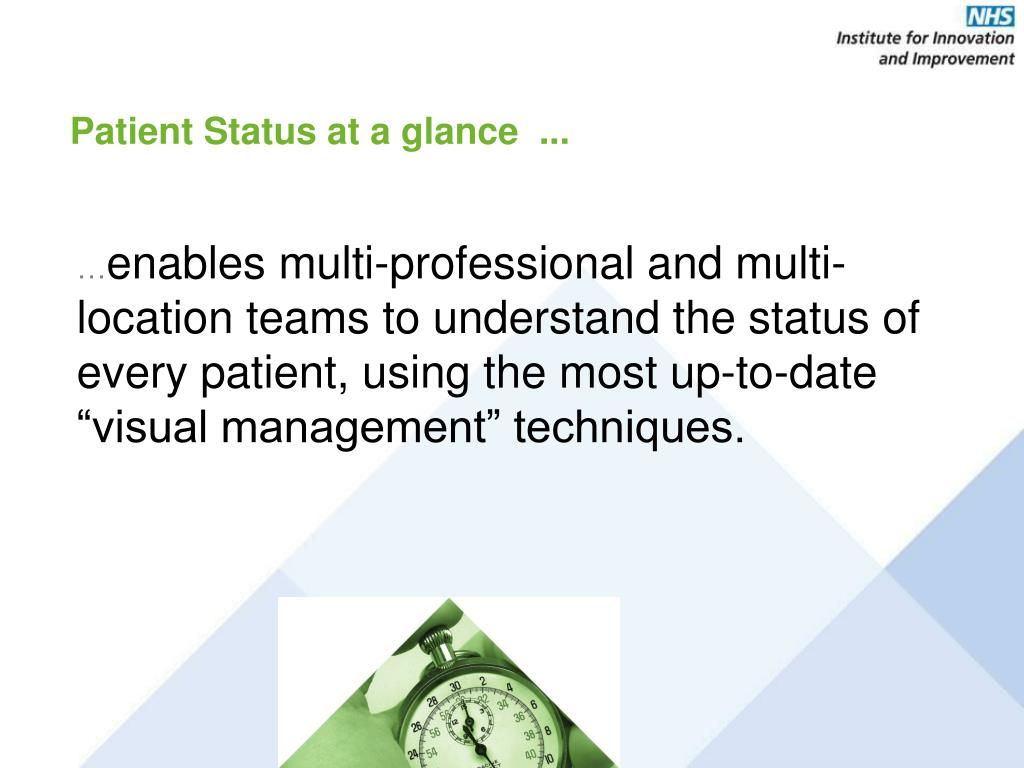Patient Status at a glance  ...