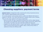 choosing suppliers payment terms