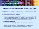 examples of measures of quality 1