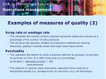 examples of measures of quality 2