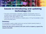 issues in introducing and updating technology 2