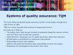 systems of quality assurance tqm